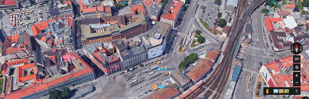 Mapa obchodního centra Letmo